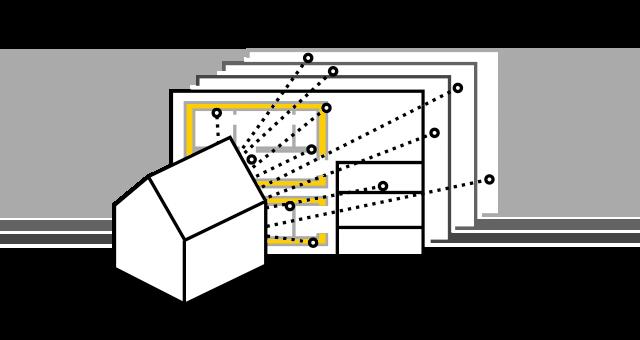 モデル内の図面